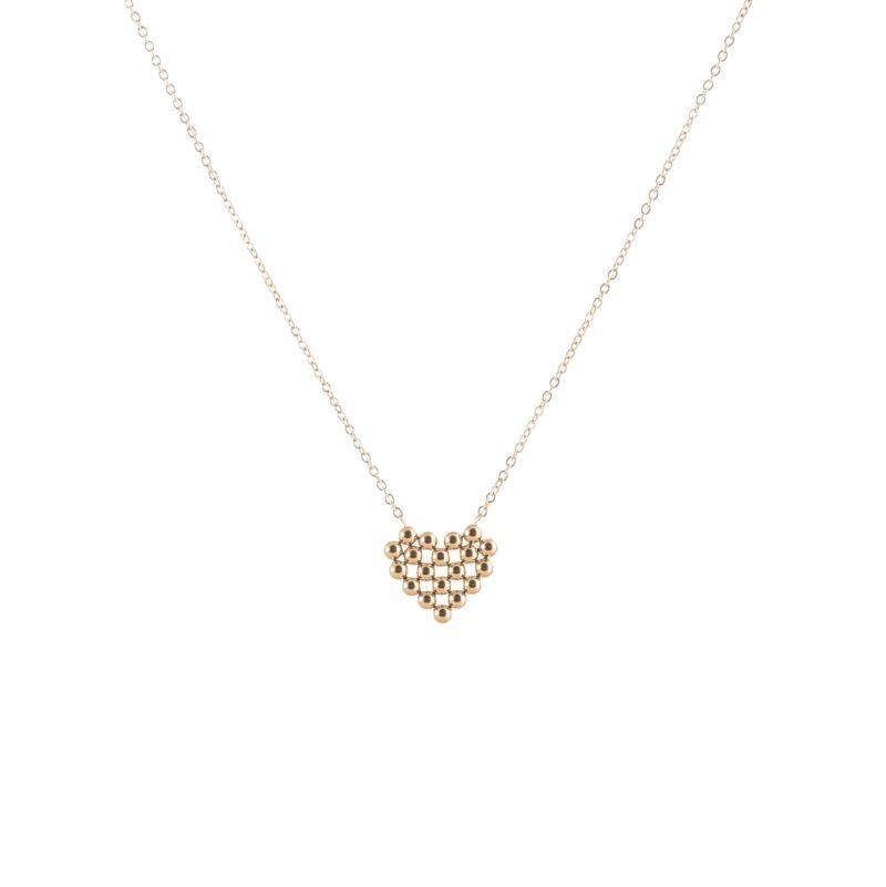 Cadena con colgante en forma de corazón en acero de titanio.