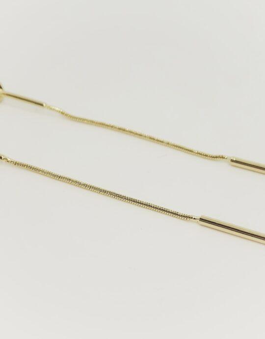 Pedientes Leonardo plata 925 chapado en oro