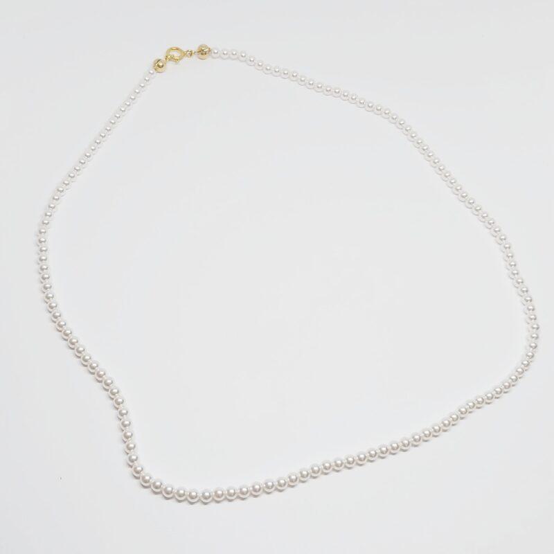 Collar Lombok en plata de ley y baño de oro con perlas de gran calidad de 3mm.
